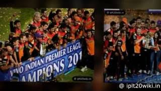 IPL 2016 Winner - SunRisers Hyderabad (SRH)