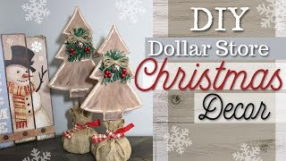 DIY Dollar Store Christmas Decor | Farmhouse Christmas Decor | KraftsbyKatelyn
