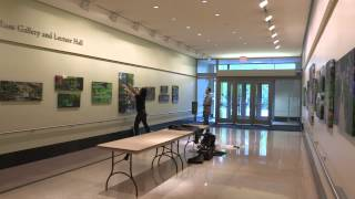 Installing Photographs of Giverny in the Ross Gallery