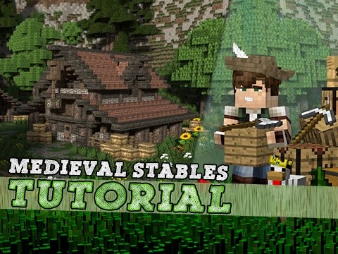 Minecraft Tutorial: How To Build A Medieval Stable!