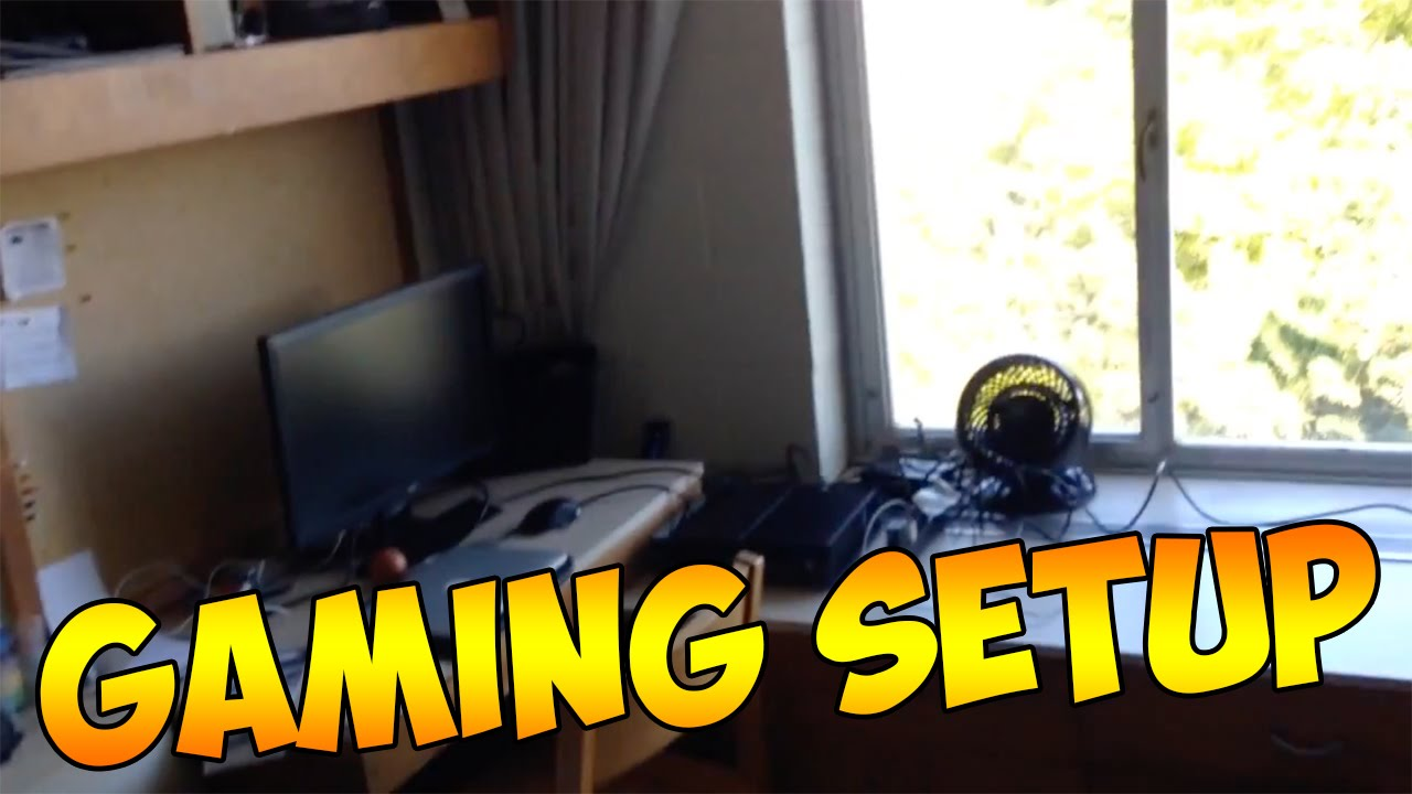 College Dorm Room Tour + Gaming Setup!   YouTube Part 79