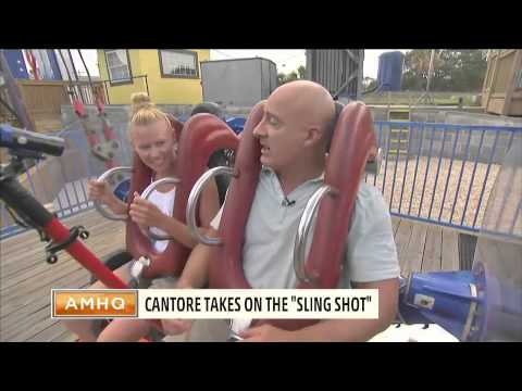 Jim Cantore takes a ride on the sling-shot in Myrtle Beach