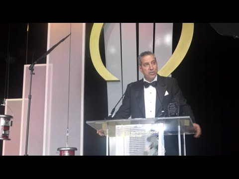 Selim Bassoul receiving the EY World Entrepreneur of the Year Award
