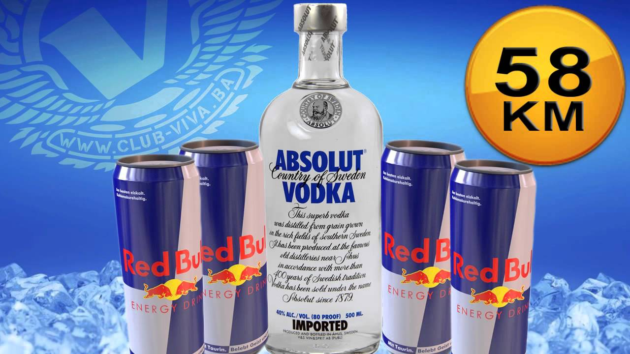 Red bull vodka with twist - 1 2