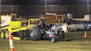 Alco Supercharged tractor @ krikke boys burnout masters and tractorpull