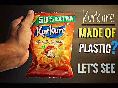 Are KurKure Made Of Plastic ?????  Lets See