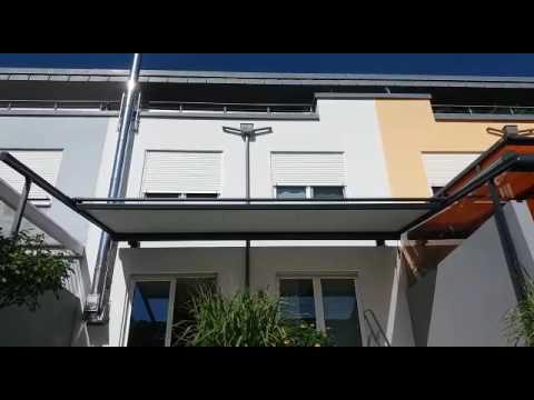 Warema Pergola Markise P40 Mit Volant Youtube