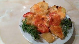 Картошка с мясом в духовке рецепт. Мясо по-французски.Очень вкусно!