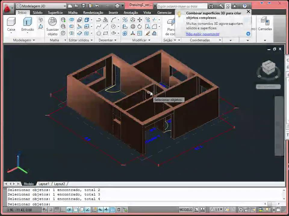 aula de autocad casa 3d part 2 de 4 youtube