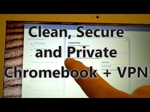 Clean, secure, private. Chromebook in guest mode with encrypted VPN.