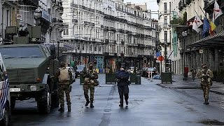 Empty streets in Brussels, the city remains on lockdown - no comment