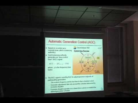 Lecture by Dr. Ian Hiskens: Grid Integration of Alternative Energy Sources [Michigan Energy Club]