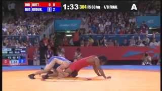 1/8 FINAL Freestyle 60 Kg (IND) Yogeshwar DUTT (RUS) Besik KUDUKHOV