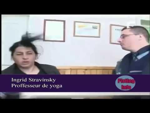 un policier claque  une prof de yoga - voix française