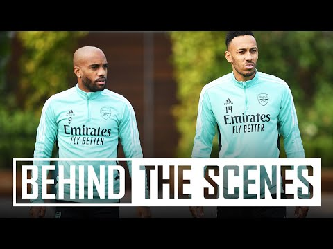 Preparing for Aston Villa | Behind the scenes at a very wet Arsenal training centre