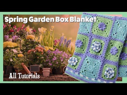 Stitch Along: Crochet Spring Garden Afghan | The Crochet Crowd
