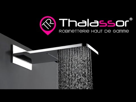 pomme de douche 2 fonctions avec pluie tropicale et cascade youtube. Black Bedroom Furniture Sets. Home Design Ideas