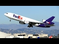 FedEx McDonnell Douglas MD-10-10F Takeoff LAX