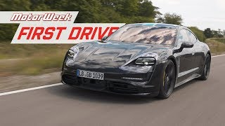Driving the Porsche Taycan Prototype in Stuttgart | MotorWeek First Drive