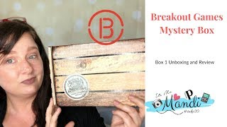 Breakout Games Mystery Box UnBoxing || Season 1 Box 1
