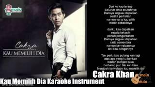 I do not own this video and song cakra khan kau memilih dia karaoke
