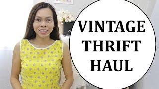 Vintage Thrift Haul & try- on, Vlog
