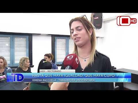 Ximena Bacchela se incorporó como trabajadora en el rectorado
