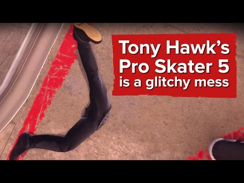 [Video] Eurogamer: Tony Hawk's Pro Skater 5 is a Glitchy Mess
