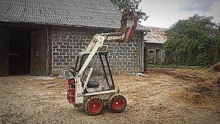 Usuwanie Słomy spod Obory ! Vlog#133 Test Mini-Ładowarki Bobcat M371 Skid Steer ! :D