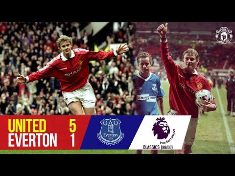 Solskjaer scores four as Reds top Everton |  Manchester United 5-1 Everton |  1999/00 Classic