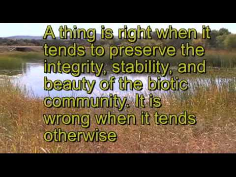 A Land Ethic By Aldo Leopold