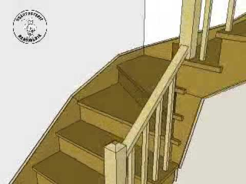 Construction escalier à marches d\'angle Stairs Building - Sketchup ...