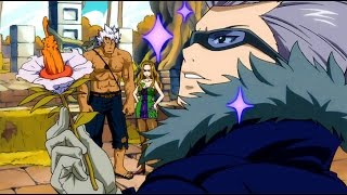 Fairy Tail: Freed, Bickslow, Elfman and Evergreen vs Rustyrose English Dubbed
