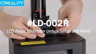 Creality LD-002R LCD Resin 3D Printer Unbox Setup and Print! (Build)