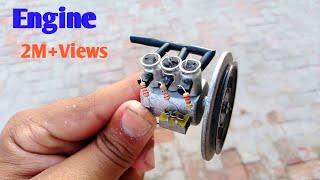 how to make engine at home   how to make motorised engine   Homemade engine