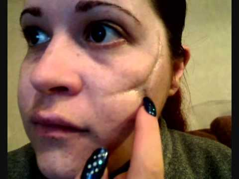 Halloween FX tutorial - old scar\'s - YouTube