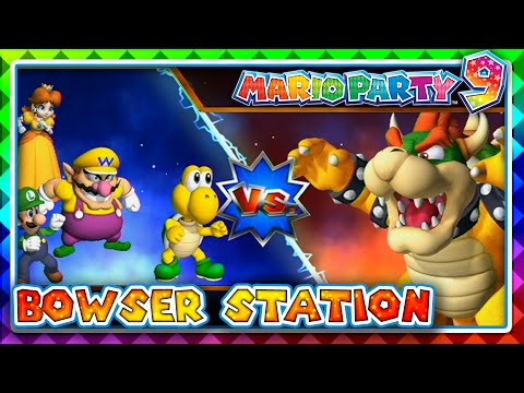 Mario Party 9 Bowser Station 4 Player Youtube