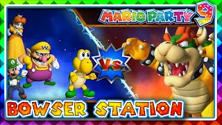 Mario Party 9 Bowser Station 2 Player Mario Party Mode