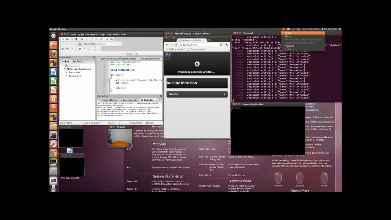 video surveillance by smartphone with Nodejs, FFMPEG