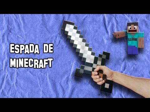Como Hacer la Espada de Minecraft Real | Armas Caseras Fáciles