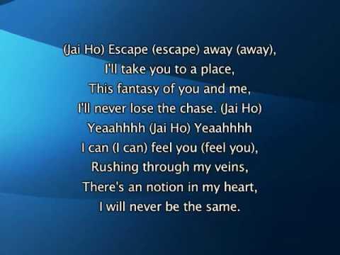 Pussycat Dolls - Jai Ho (You Are My Destiny), Lyrics In Video