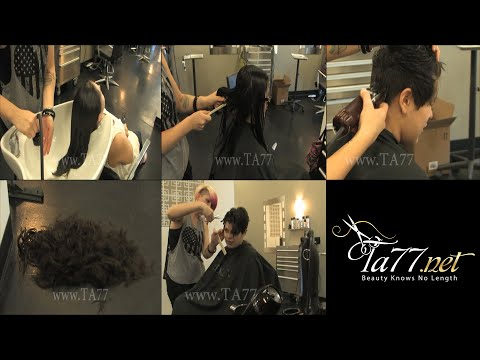 Free TA77.net video - Rista (2013) Part 2 Long to pixie cut