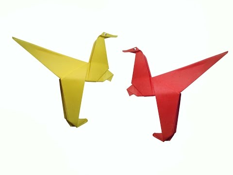How to make Paper Dinosaur ( very easy ) : DIY Crafts