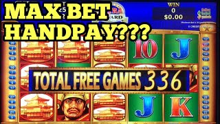 ***HANDPAY OR NOT??*** MAX BET 528 FREE GAMES - Majestic Warriors