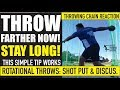 SHOT PUT AND DISCUS TIP | THIS SIMPLE TIP WORKS FAST | STAY LONG, THROW FARTHER FAST