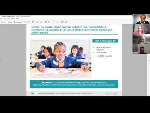 NCC January 2017 Webinar -- Charter School Growth Fund