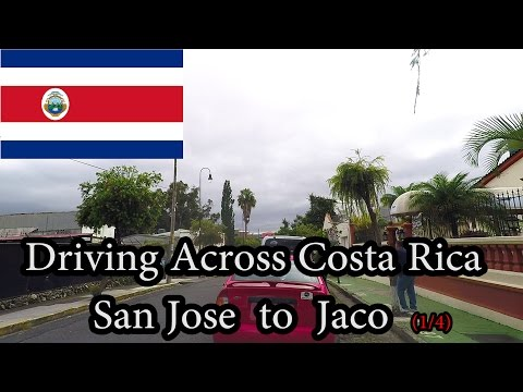 Driving Across Costa Rica - San Jose to Jaco (1/4) November 2016