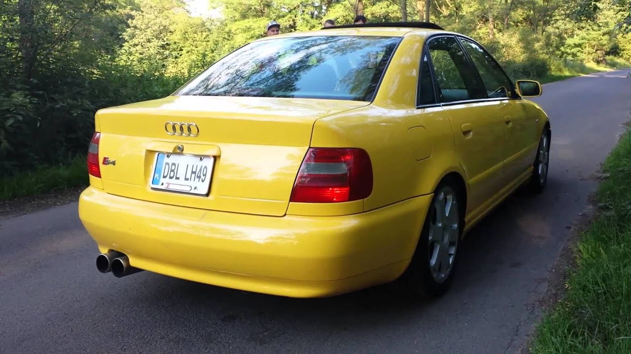 audi s4 b5 2 7 biturbo usa yellow youtube. Black Bedroom Furniture Sets. Home Design Ideas