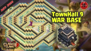TownHall 9 War Base NEW !!! | TH9 War Base 2018 Anti All Troops | Clash of Clans
