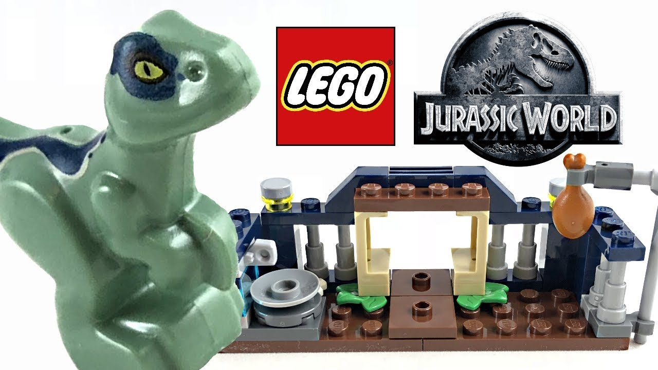 Lego Jurassic World Baby Velociraptor Playpen Review 2018 Polybag